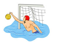 Water Polo Goalie Clipart
